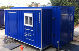 Single roll-out containerised laboratory for Agilent