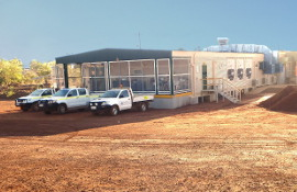 Containerised kitchen and dining facility for Wodgina mine site